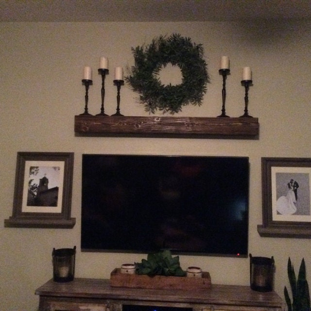 Fireplace Mantel  Rugged finish wood fireplace mantle. Look of a solid beam. Made out of wood
