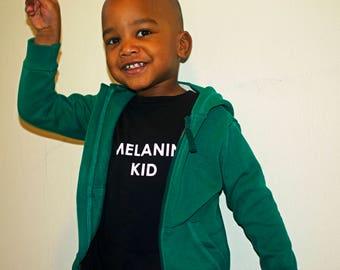 Melanin KID shirt. kid streetwear, black shirt, black owned, african fashion, children shirt, hbcu, childrens clothing, wakanda, summer kids