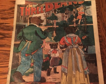 1912 The Three Bears Linen Children's Book