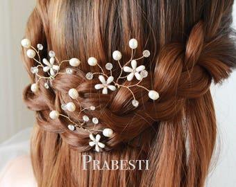 Bridal Hair Pins Set - For My Love Hair Pins Set - Made to Order