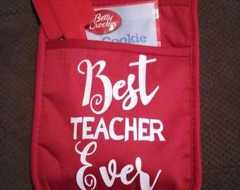 Teacher potholder giftset