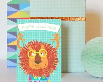 Happy Birthday Lion Card | birthday card | kids birthday card | happy birthday | lion card