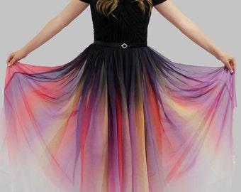 Odile Ombre Dress - Dip Dye Dress - Elie Saab - Lily Collins - Modest Prom Dress - Modest Formal - Modest Evening Dress - Bridesmaid Dresses