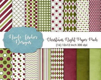 Christmas Night Paper Pack -INSTANT DOWNLOAD