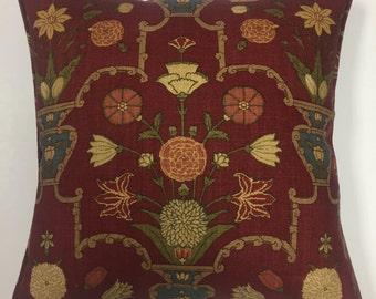 """Lee Jofa 'Kashan Bouquet' Linen Cushion Pillow Cover 18"""" (45cm)"""