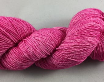 hand dyed sock yarn, superwash merino wool and nylon, 2-ply, colorway TULIP