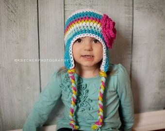 Girls hat, baby hat, girl hat, newborn girl hat, crochet girls hat, little girls hat, baby girl hat,  kids hat, crochet kids hat, baby girl
