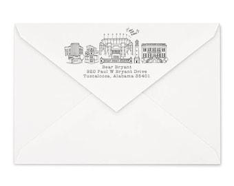 Tuscaloosa, Alabama Custom Return Address Stamp