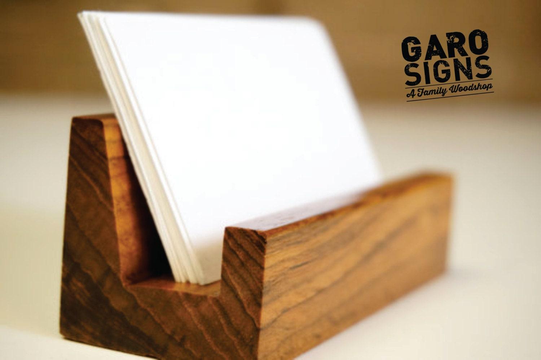Wooden business card holder yeniscale wooden business card holder reheart Gallery