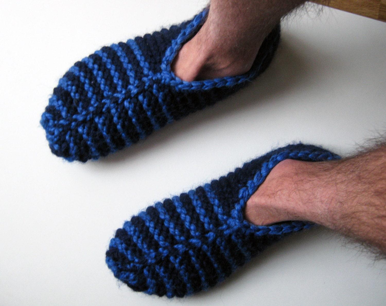 Striped Slipper Socks Knitted Slippers Knitted Socks Mens