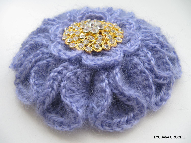 Crochet PATTERN Crochet Brooch Pattern Crochet Flower