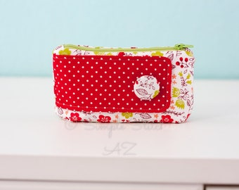 READY-TO-SHIP Medium Gusseted Zipper Pouch | Accessory | Bags | Zipper Pouch | Pouch | Michelle Patterns