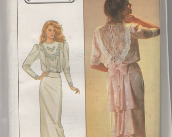 Misses Jessica McClintoch Dress Sewing Pattern Simplicity 8224  sz 12 Bust 34 uncut