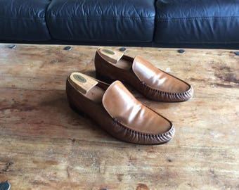 Men's, Grenson, Brown Leather Moccasins, UK Size 10.5