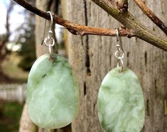 Washington River Botryoidal Jade Earrings