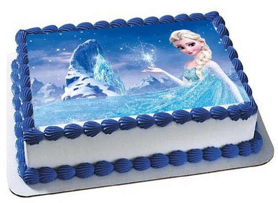 Frozen Birthday party Frozen cake topper frozen cupcake