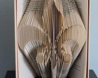 Fleur-de-lis Folded Book Art