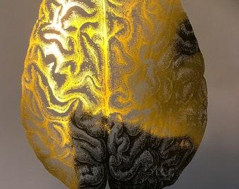 anatomy print set, anatomy foil set, anatomy gold foil, gold foil print set, foil print set, heart brain set, skeleton foil print, gold foil