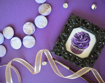 Chocolate Cupcake Art / Framed Art / Mini Art / Bridesmaids Gifts/ Party Favors / Party Favours /Birthday / Wedding Favors / Wedding Favours