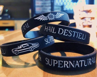Supernatural Destiel silicone bracelet