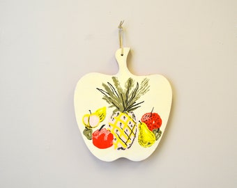 1960s Painted Wooden Cutting Board