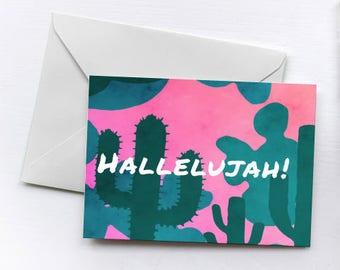 Hallelujah!   Greetings Card