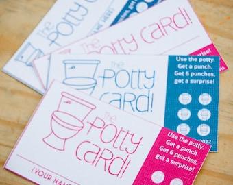 DIY Printable Potty Training Reward Punch Cards