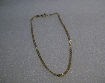 14kt Double Link Bracelet, Mesh, 1.28 grams, 2mm, 7""