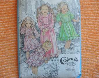 vintage 1980s Simplicity sewing pattern 9354 girls dress in two lengths size 3