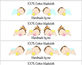 Babies Washcloth/Dishcloth Labels-PDF/JPG only
