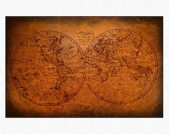 "Vintage World Map Paper Placemats | 1802 World Map Paper Placemats Book of 25 17"" x 11"" inches Tear-Off Pad/Card Stock Paper"