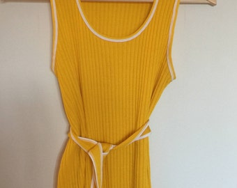 Yellow Sweater Tank Top