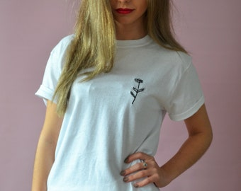 Embroidered daisy White t-shirt