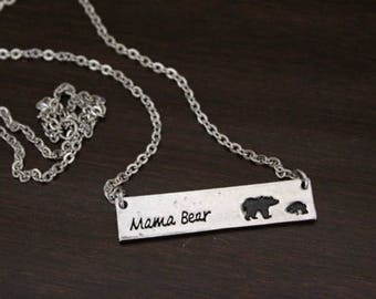 Mama Bear Necklace - Mother Necklace - Mom Gift - Mama Bear Gift - Mama Bear Jewelry