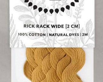Naturally Dyed 20mm Rick Rack-Ochre