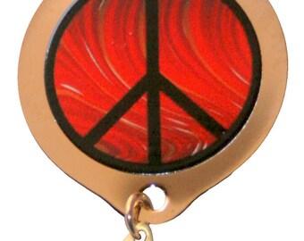 Red Swirl Peace