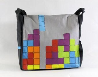 Tetris Messenger Bag - Original Fabric Design