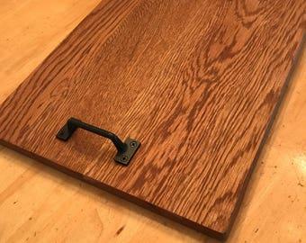 Reclaimed repurposed Rustic farmhouse Oak serving tray