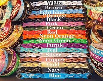 leather engraved Bracelets - His and her jewelry - Personalized leather bracelets for couples - leather custom bracelets - Gifts for couples