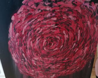 Large Abstract Rose Paintings on Canvas