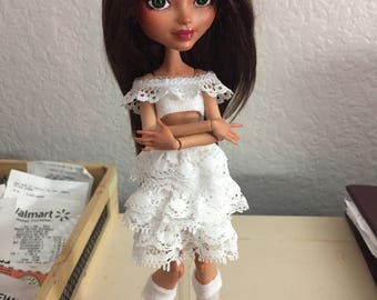 White Lolita Ruffle Two Piece Monster High Ever After High Outfit