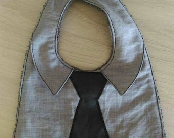 Bib shirt with collar and tie
