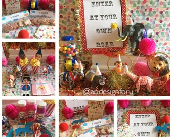 Circus Party Pack Carnival Party Circus Birthday Pink Circus Step Right Up Party Package