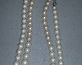 Pearl colored two strand necklace