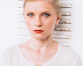 Chevron gold necklace, Arrow necklace, feather, geometric gold, fashion necklace, chevron gold metal, women, arrow women pendant, gift