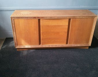 Paul Frankl For Brown Saltman Untouched 1940s Cerused Credenza