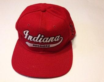Vintage Indiana Hoosiers IU University Starter NCAA Adjustable Snapback Hat Cap