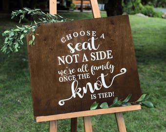Rustic wedding signs | Etsy