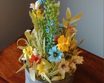 Wildflower Tin Centerpiece