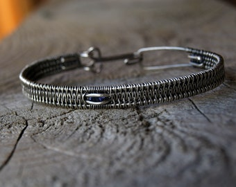 Iolite//925 Sterling Silver Bangle